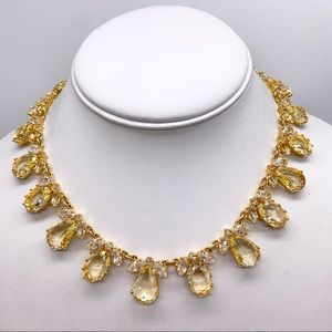 Kate Spade Up the Ante Golden Crystal Necklace NWT